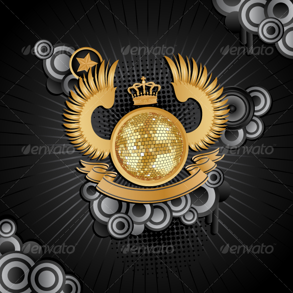 GraphicRiver Music background with a disco ball 95002
