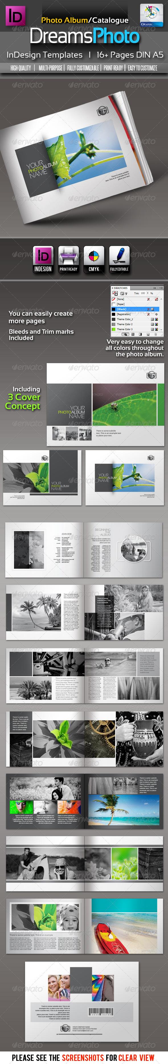 GraphicRiver Dreams Clean Photo Album InDesign Templates 2622174