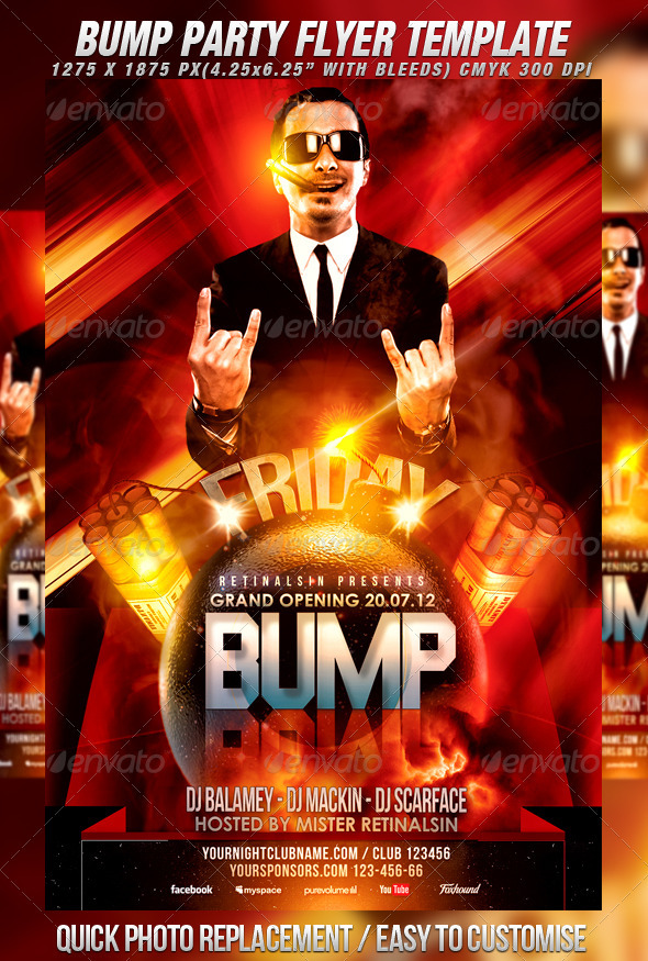 GraphicRiver Bump Party Flyer Template 2622294