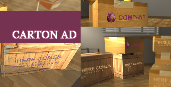 VideoHive Ad On Cartons 2605379