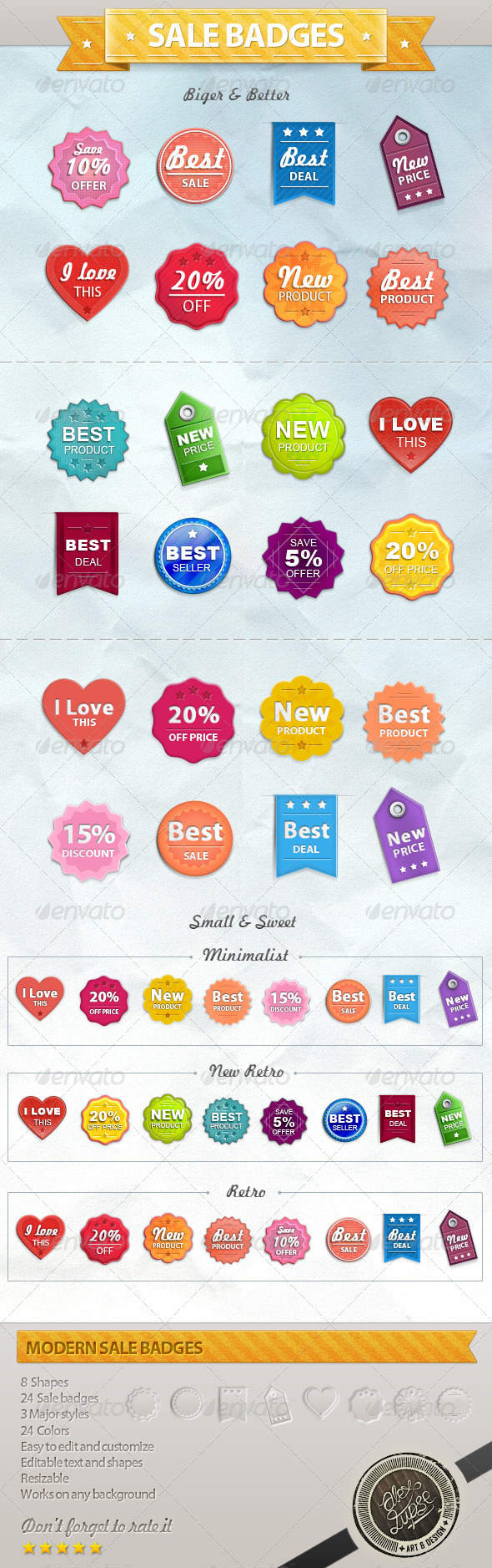 GraphicRiver Sale Badges and Tags 2596373