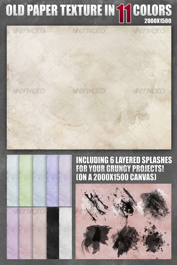 GraphicRiver Old Paper Texture in 11 Colors 94232