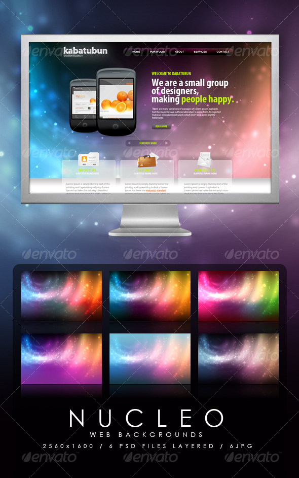 GraphicRiver Nucleo Web Backgrounds 95203