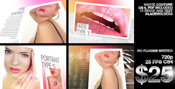 VideoHive Beauty Portfolio Haute Couture 2620379