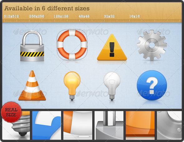 GraphicRiver High Quality Premium Icons Set 1 91740