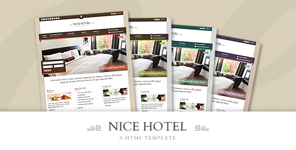 ThemeForest Nice Hotel HTML Template Site Templates Retail Travel 2622861