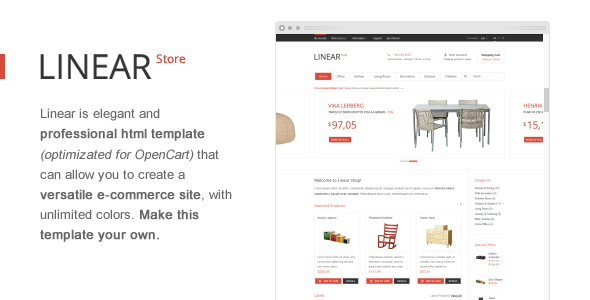 ThemeForest Linear Store Premium HTML OpenCart Design 2642690