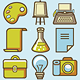 25 Vector Creative Icons In Retro Style  - GraphicRiver Item for Sale