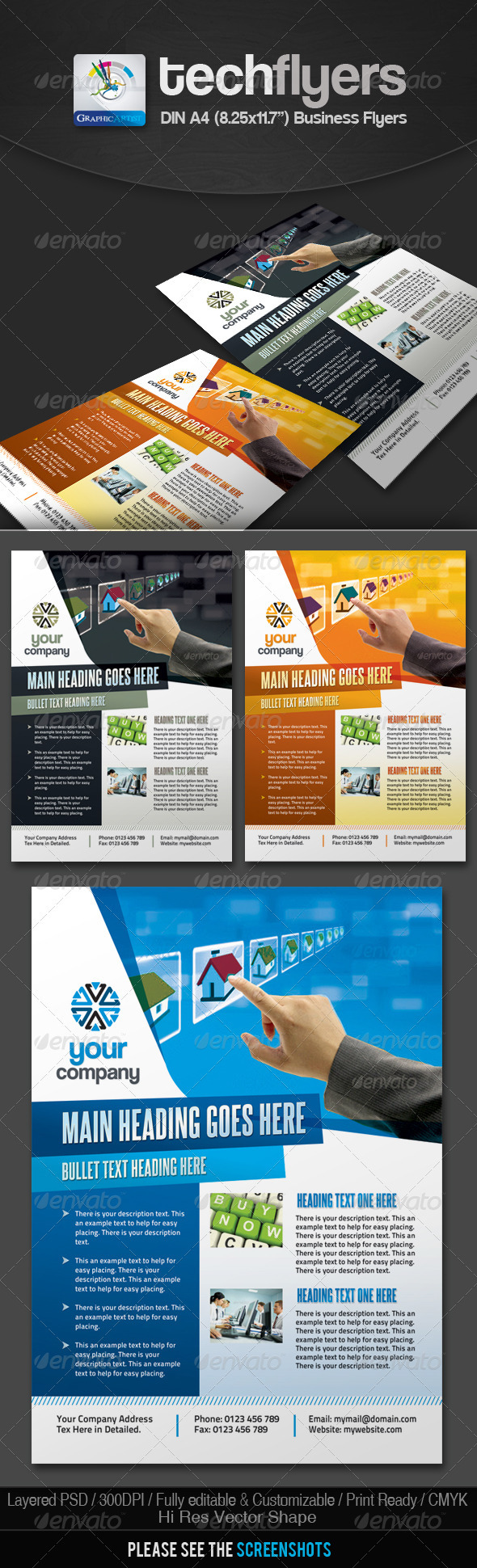 GraphicRiver Tech Multipurpose Business Flyers 2645050