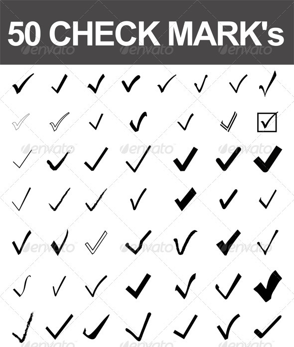 GraphicRiver 50 Check Marks 2645090