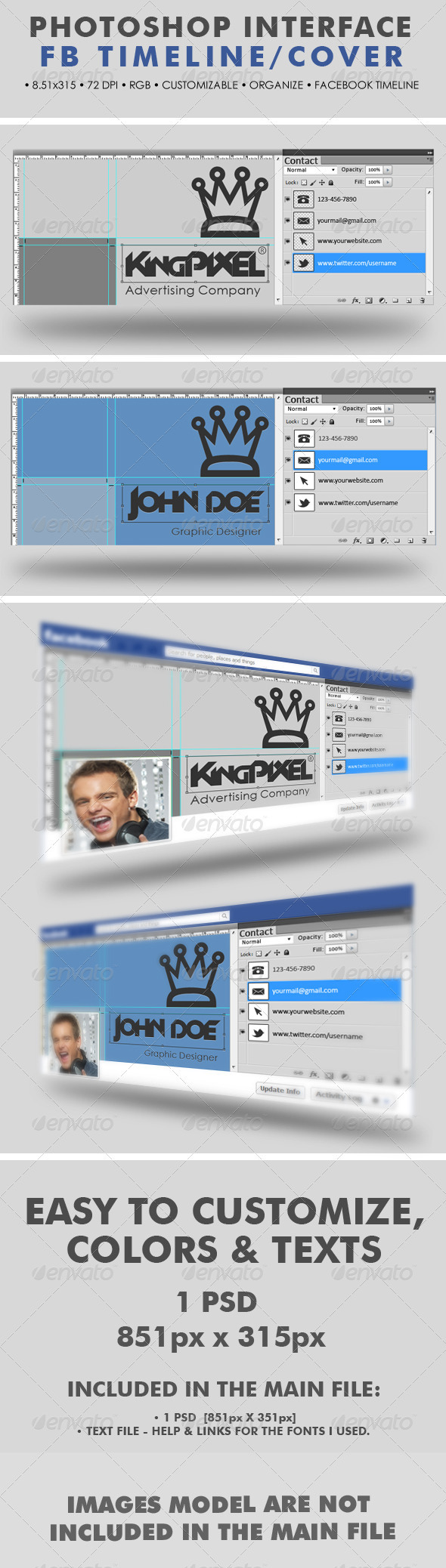 GraphicRiver Creative Photoshop Interface Timeline Cover 2583803