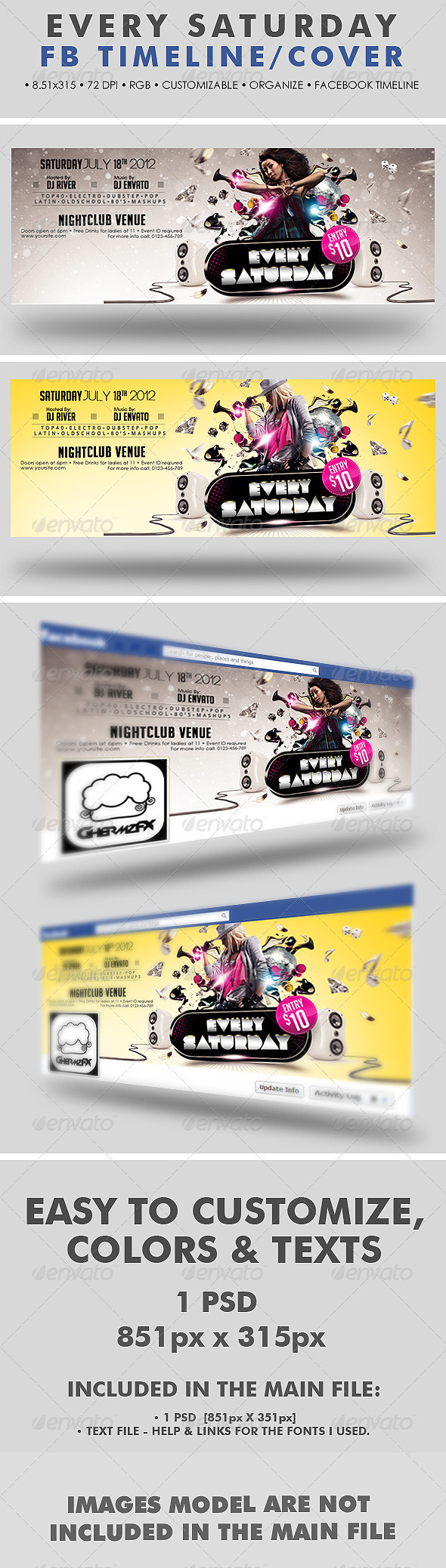 GraphicRiver Every Saturday Facebook Timeline Cover 2575457