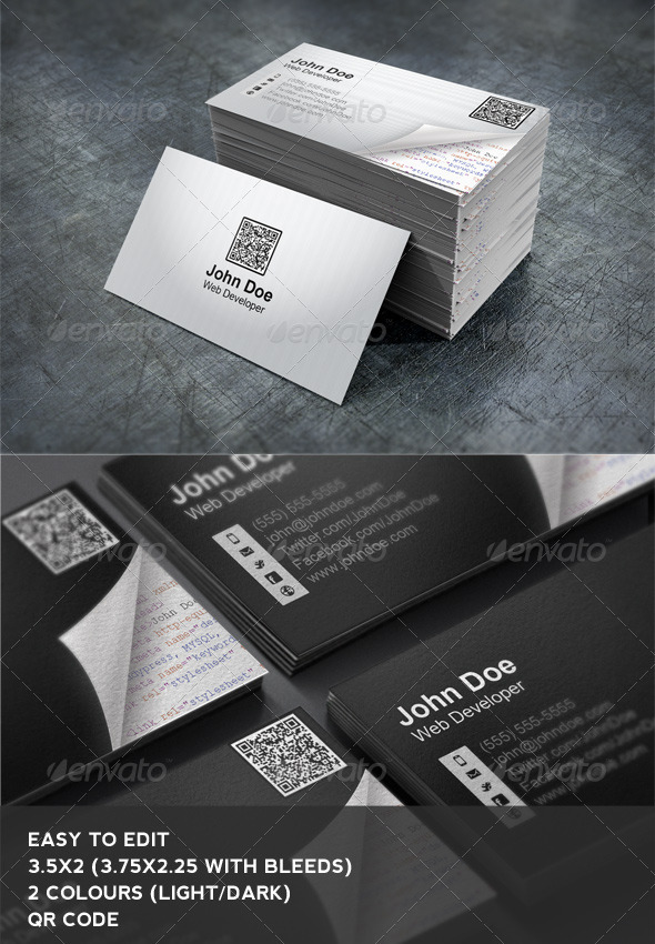 GraphicRiver Web Developer Business Card 2628400