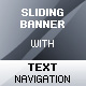 Sliding Banner Rotator with Text Navigation - ActiveDen Item for Sale