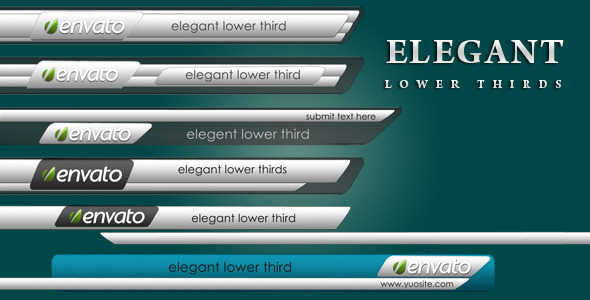After Effects Project - VideoHive Elegant Lower Thirds 2656502