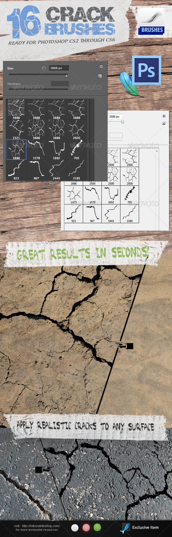 GraphicRiver Crack Brushes 2657762