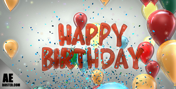 VideoHive Happy Birthday Balloons 2660243