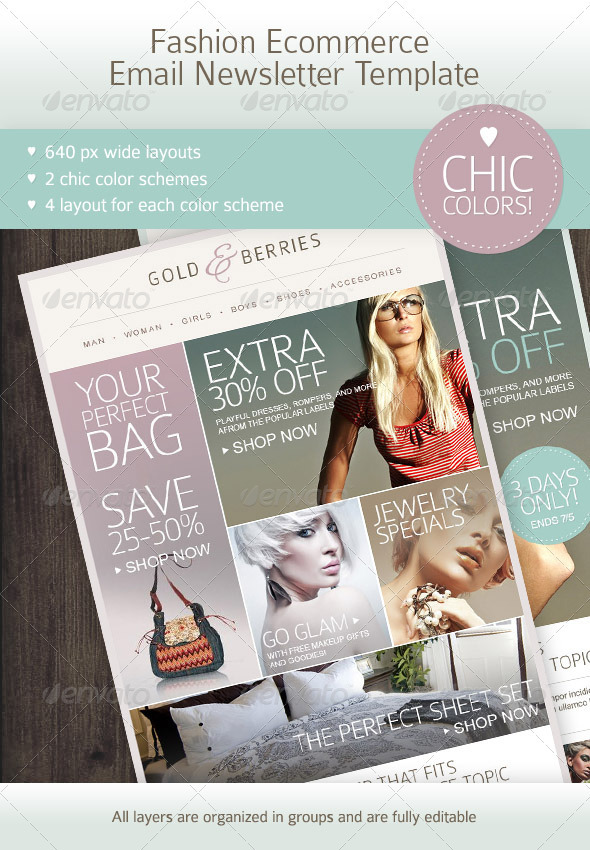 GraphicRiver Fashion Ecommerce Email Newsletter Template 2627274