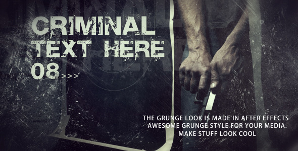 After Effects Project - VideoHive Crime Scenes 2670292