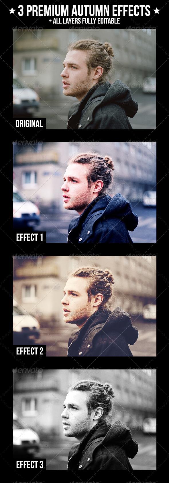 GraphicRiver 3 Premium Autumn Effects 2675607
