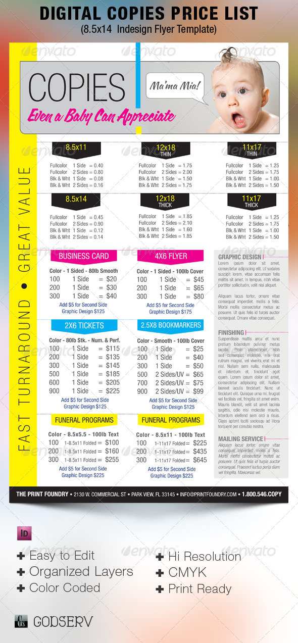 GraphicRiver Digital Printing Price List Flyer Template 2676666