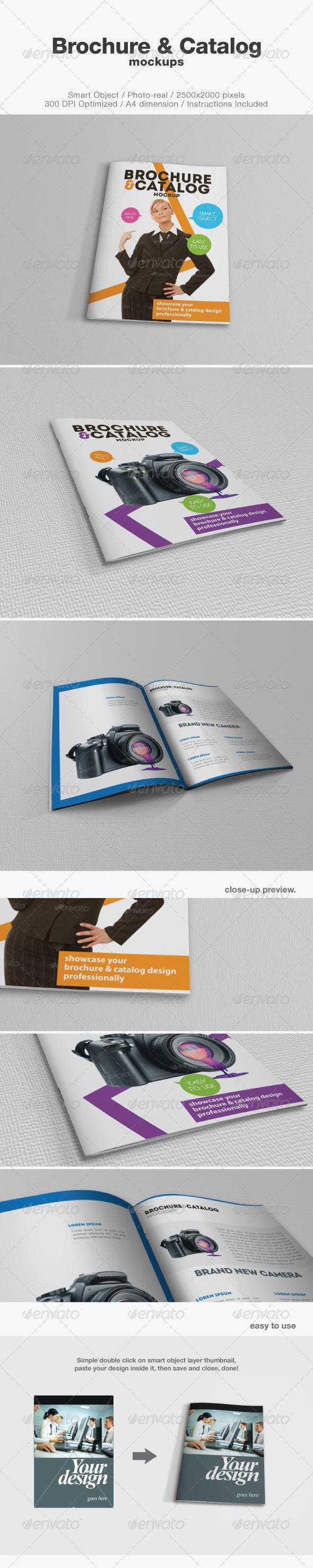 GraphicRiver Brochure and Catalog Mockups 2677856