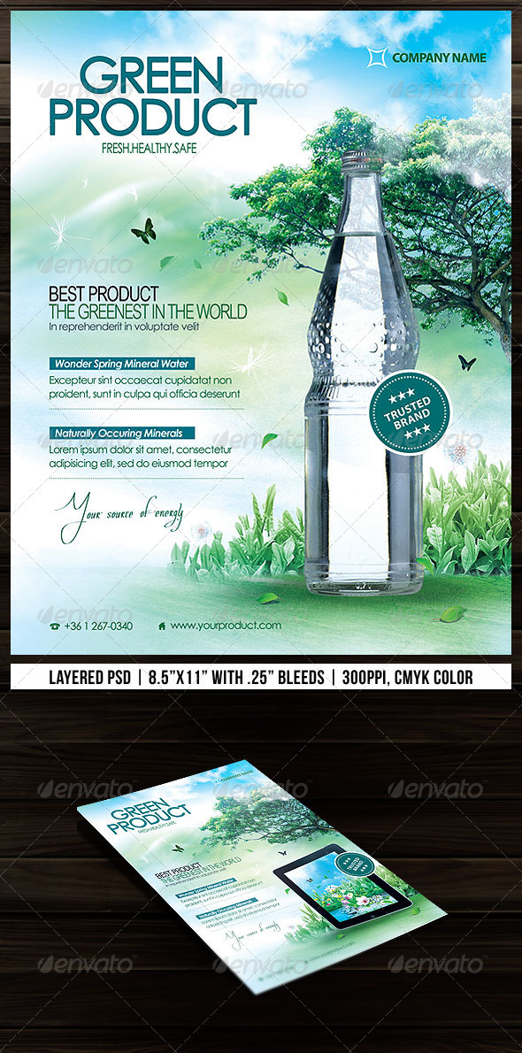 GraphicRiver Green Product Flyer 2678217