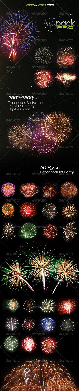 GraphicRiver DBD PyroPack PRO 30 Transparent Firework Pyros 2678855