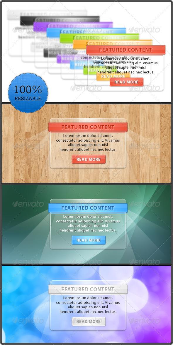 GraphicRiver Glass Web Boxes 124143
