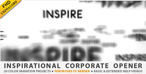 After Effects Project - VideoHive Inspirational Corporate Opener 1843584