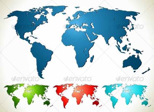 GraphicRiver World map 96825