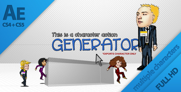 After Effects Project - VideoHive CartoonAction Character Generator 2680781