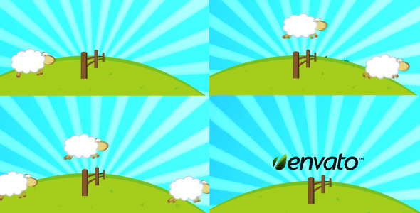VideoHive Sheep Counting Logo Reveal 2684491