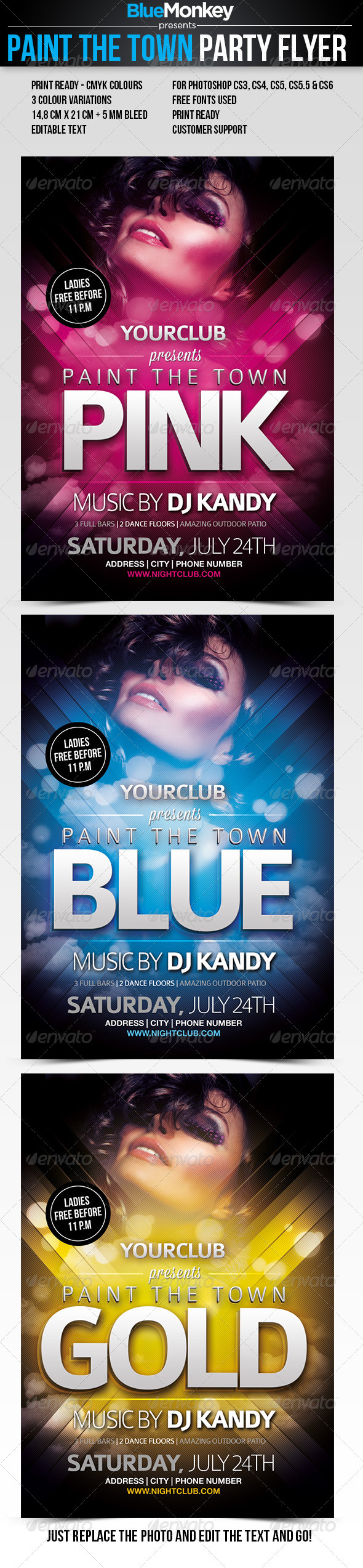 GraphicRiver Paint The Town Party Flyer 2684966