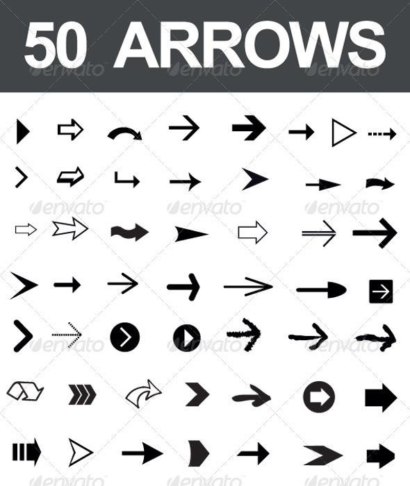 GraphicRiver 50 Arrows 2686273