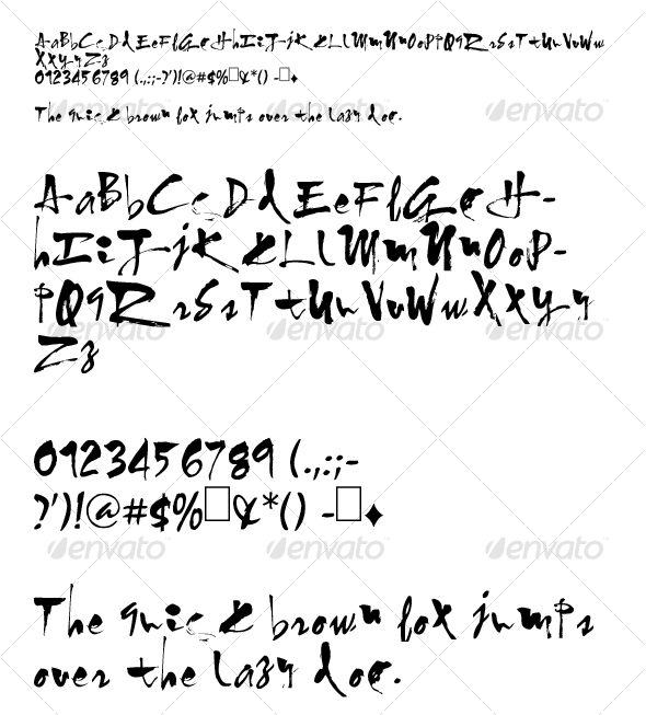GraphicRiver Calligraphy font 78404
