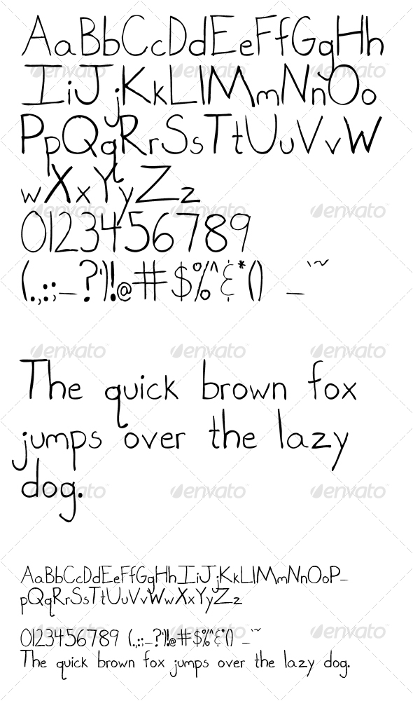 GraphicRiver Hand Drawn Letters 70984