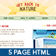 Get Back To Nature - Full Site - HTML and PSD - ThemeForest Item for Sale