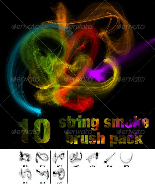 GraphicRiver String Smoke Brush Pack 97163