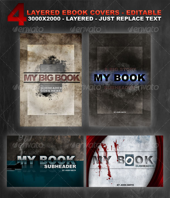 GraphicRiver 4 layered eBook covers 97211