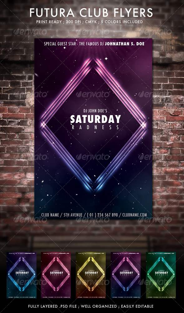 GraphicRiver Futura Club Flyers 97329