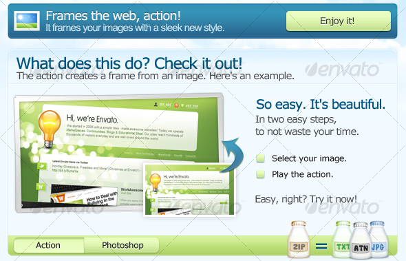 GraphicRiver Frames the web PS ACTION 95006