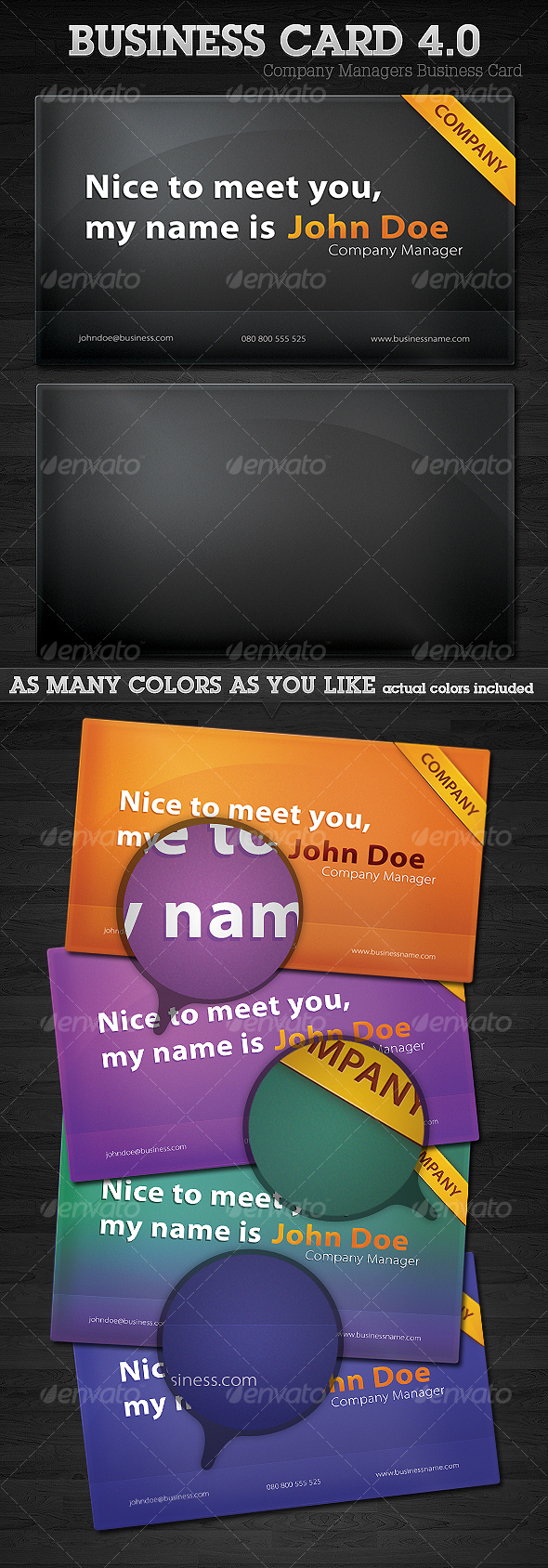 GraphicRiver Company Managers Business Card 4.0 94870