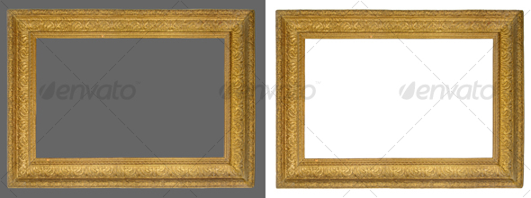 GraphicRiver Picture gold frame 43302