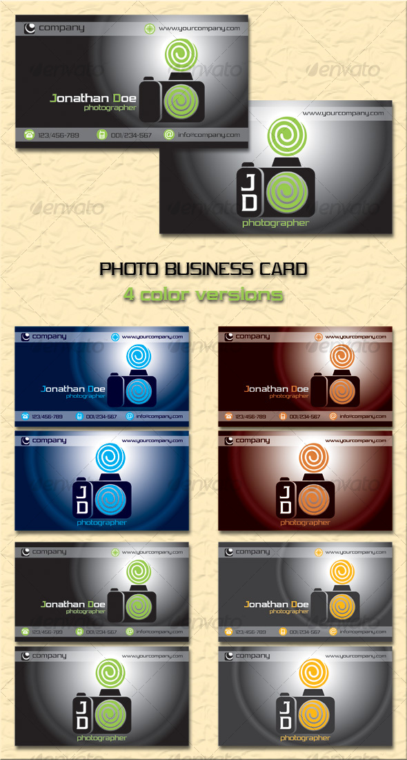 GraphicRiver Photo Business Card 97844
