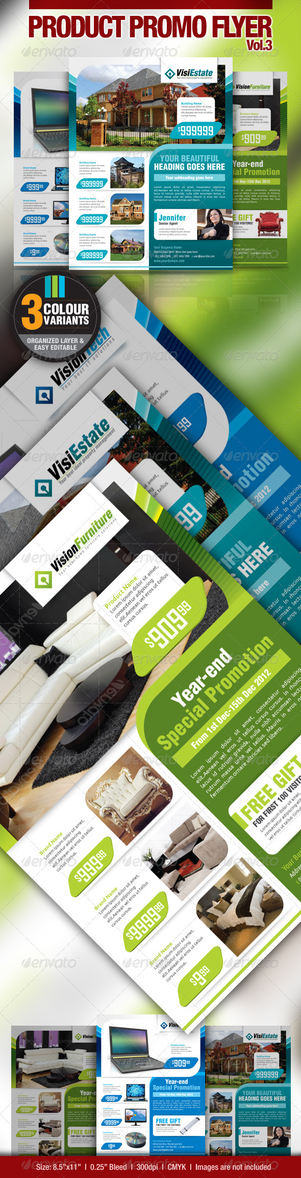 GraphicRiver Multi-Purpose Product Promotion Flyer Vol.3 2603178