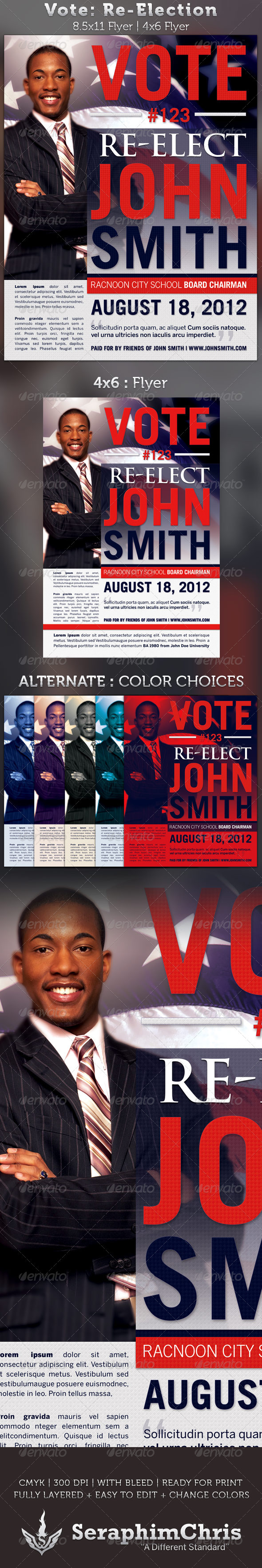 Vote re election flyer templates graphicriver for Voting flyer templates free