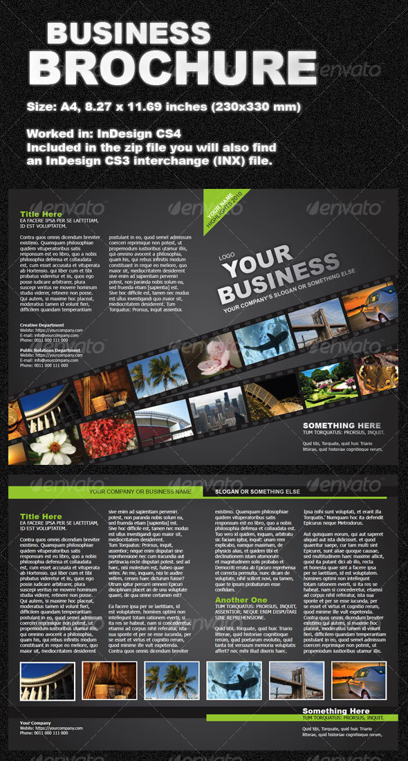 GraphicRiver Green Business Brochure two-fold 97959