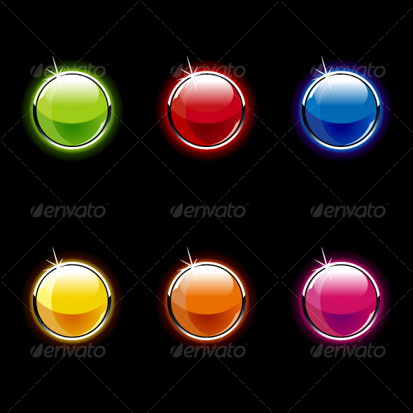 GraphicRiver Set of Glass Buttons 97964