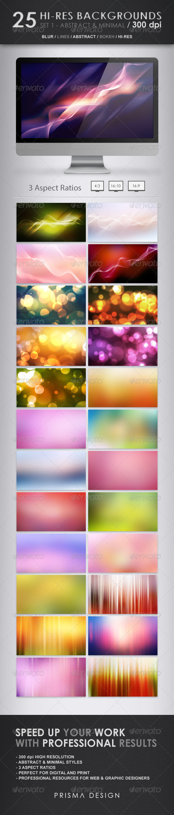 GraphicRiver 25 Hi-Res Backgrounds Abstract & Minimal 2708211